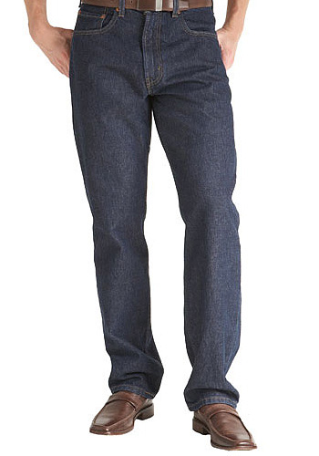 RINSED INDIGO RELAX FIT JEANS