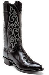 Mens Black London Calf Classic Western Boots