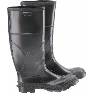 ONGUARD BLACK PLAIN TOE RUBBER BOOTS