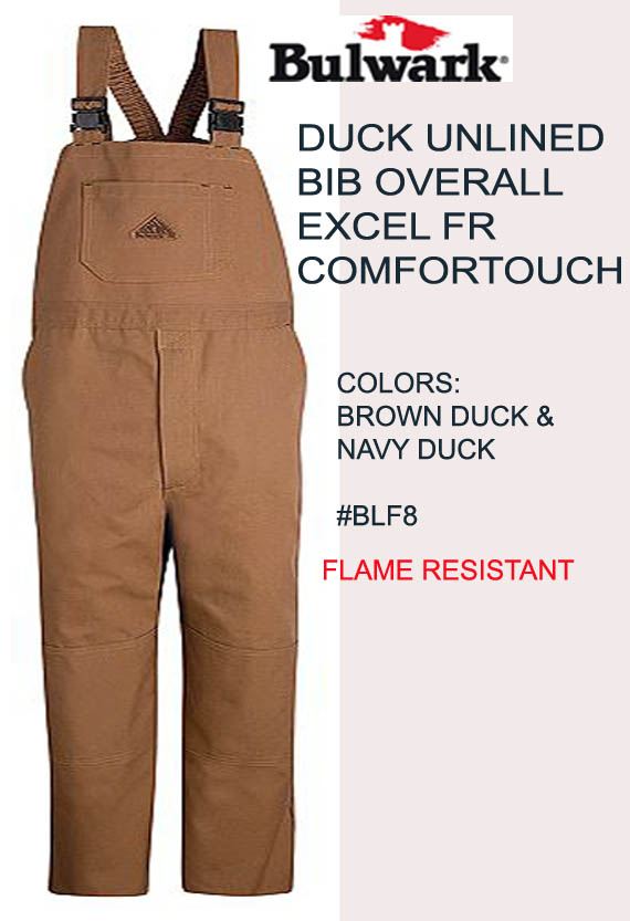 FR Unlined Brown Duck Bib Overalls