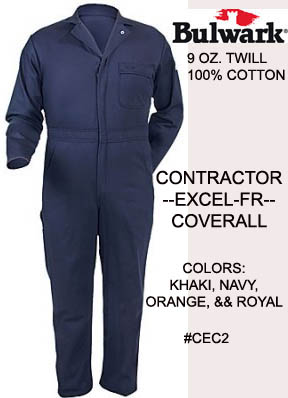 FR Contractor Cotton Coveralls