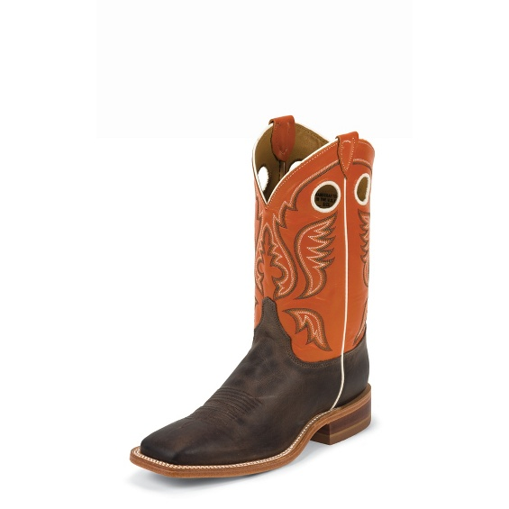 MEN'S CHOCOLATE BURNISHED AMERICA COW BENT RAIL